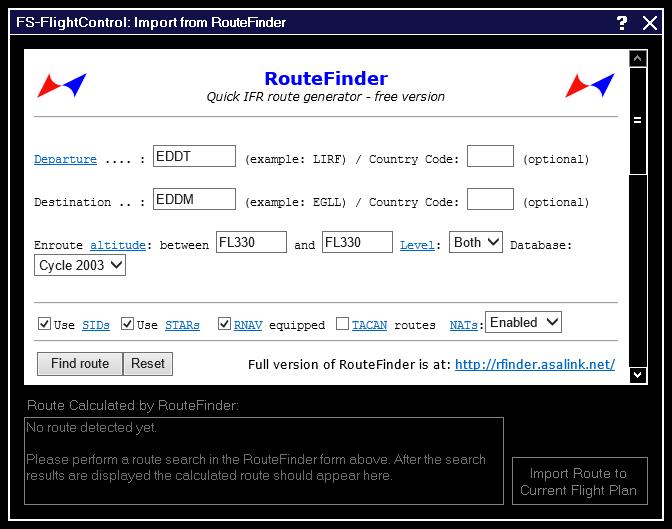 Flight Plan - FS-FlightControl Manual